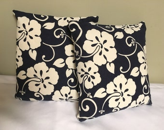Hawaiian print pillow, hawaiian pillow
