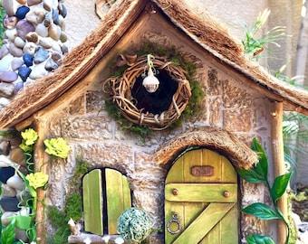 Enchanted Fairy Cottage, Custom Dollhouse, Miniature Display