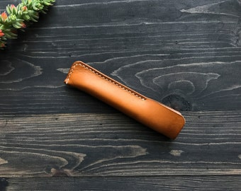 Leather Pen Case, Pen Case, Leather Pen Holder, Pen Sleeve, Leather Pen Sleeve, Handmade Pen Case