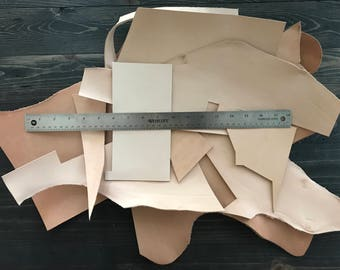 2lbs Leather Scraps, Vegetable Tanned Leather, Leather Pieces, Tooling Leather, Natural Leather Scraps, Natural Leather, Undyed Leather