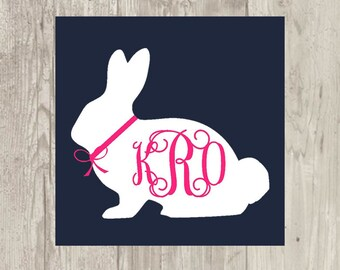 Easter Bunny With Interlocking Monogram