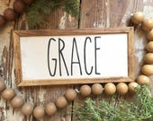 Grace, Handmade Wood Sign...