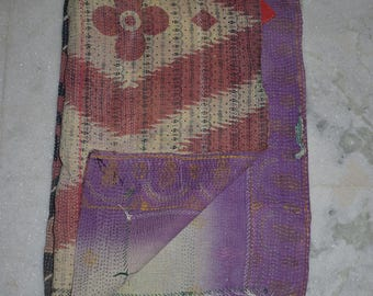 Indian Handmade Kantha Quilts Vintage Throw Bedcover Bedspread Gudri 2035  BY artisanofrajasthan