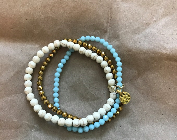 Stretchy stacks bracelet