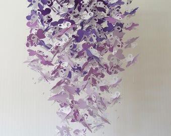 Butterfly Crib Mobile. Purple butterfly mobile. Butterfly Mobile. Purple Ombre. White. Butterfly. Baby shower. Baby nursery. Nursery decor.