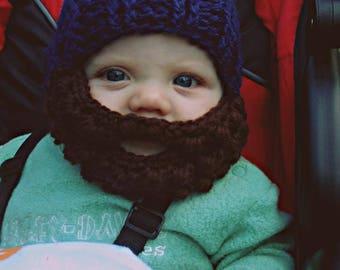 Crochet Baby Beard Hat
