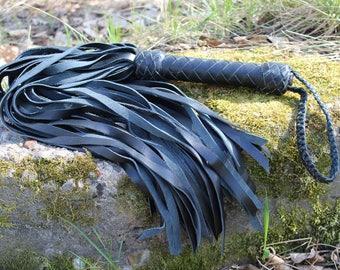 Black Leather Flogger