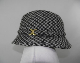 Vintage Biltmore Hat - Hand Woven Harris Tweed pure new wool mens Cap made in Scotland