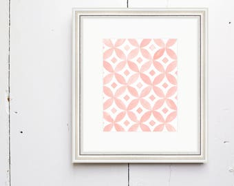 Diamond Bloom Watercolor Print - SMc. Originals, watercolor, floral, modern, original artwork, watercolor print, simple, pattern print