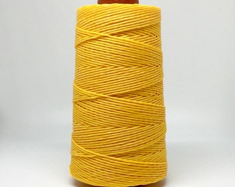 10 meters ≈ 11 yards - 1mm Yellow Waxed Cord - Cotton Waxed Cord
