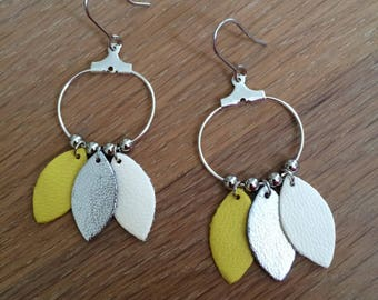 Earrings Flowers (silver)