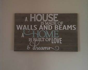 A House is Made of Walls & Beams