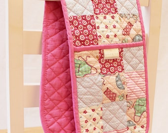 Handmade Patchwork Quilted Double Oven Gloves