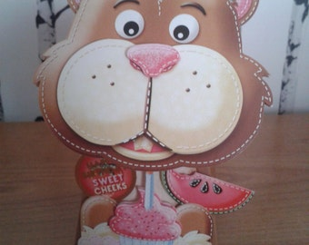 Hamster Box Card, 3D Card, Birthday Card, Boyfriend Birthday Card, Girlfriend Birthday Card, Box Card, Greeting Card, Handmade Card