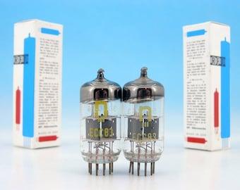 2x PREMIUM ECC83 12AX7 RFT Anna Seghers Neuhaus Electrically TESTED Double Triode Hi-Fi Audiophile Military Steampunk Audio Tube Pair B339