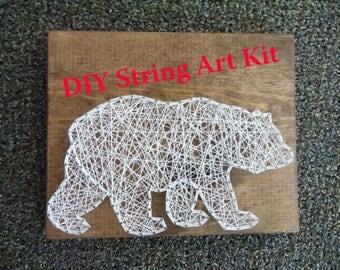 DIY Bear String Art Kit