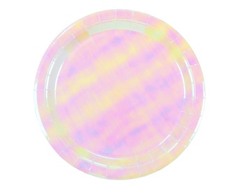 Plates | Pastel Iridescent Paper Plates 9"