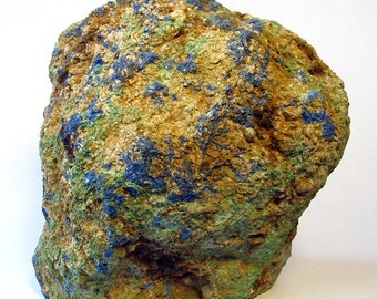 HUGE Bisbee Arizona Malachite Azurite 2.4 Nugget Display Specimen - More Rare Copper Queen Rocks Lavender Pit