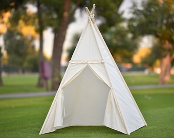 Ready to ship Muslin Kids Teepee, Kids Play Tent, Childrens Play House, Tipi,Kids Room Decor
