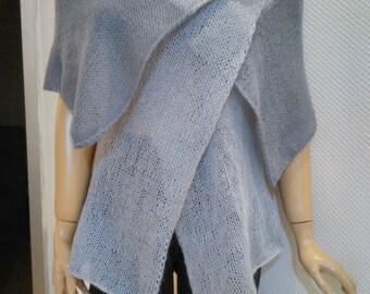 Hand knitted Grey Vest, bolero