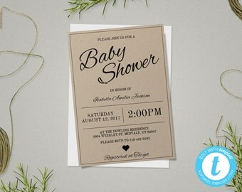Baby Shower Invitation Template, Gender Neutral Baby Shower Templates, Boy, Girl, Baby Shower Invites, Edit In Our Web App, Easy To Use!