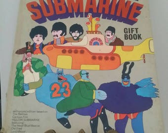 Vintage The Yellow Submarine Gift Book Hard Cover