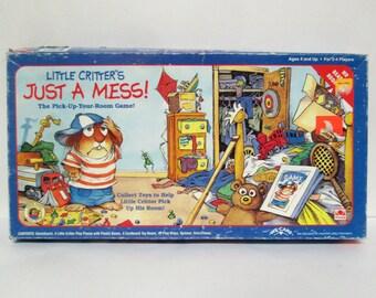 Little Critter's Just A Mess Board Game Golden Mercer Mayer 1993 Complete Rare