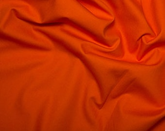 Orange 100% Cotton Poplin Fabric