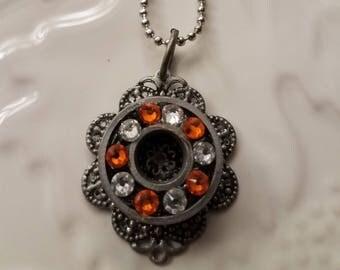 Roller Derby Necklace, Roller Skate Bearing Necklace, Skate Bearing Jewelry, Roller Derby Jewelry, Upcycled Skate Bearing Necklace, Bearings
