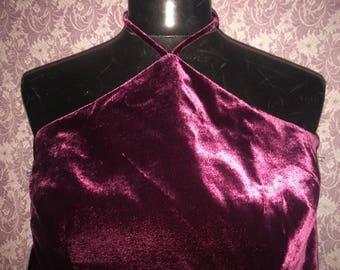 Magenta Velour 2 piece disco suit
