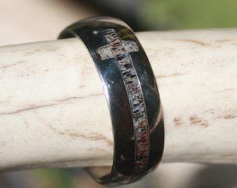 Titanium Cross Antler Ring - SHIPPED FAST!