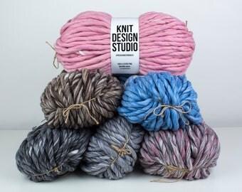 Melange #PremiumMerinoMaxi - Limited Edition of a Super Chunky Yarn, Super Bulky Yarn, Super Thick Yarn, Blanket Yarn, Big Yarn