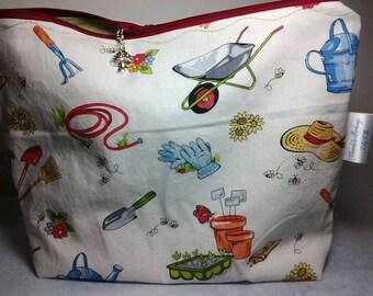 Gnomes bag, Garden bag, Wedge garden bag, Crochet Gnomes bag