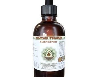 Sleep Support Glycerite, Certified Organic or Wild Harvested Valerian, Wild Lettuce, Blue Vervain, Hops Alcohol-Free Liquid Extract, Sleep