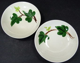 Blue Ridge Southern Pottery Baltic Ivy Dessert 2 Berry Bowl 5.5in x 1.25in Set B