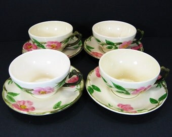 Franciscan Desert Rose Cup and Saucer Made in USA Set of 4