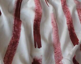 Maroonish Brush Print Modal Fabric