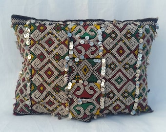 Vintage Decorative berber Cushion , moroccan pillow.