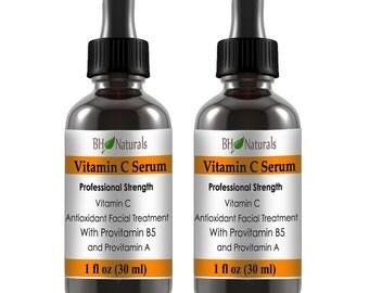 VITAMIN C Serum  #1 for Face Organic Ingredients Buy 1 Get 1 Free Vegan