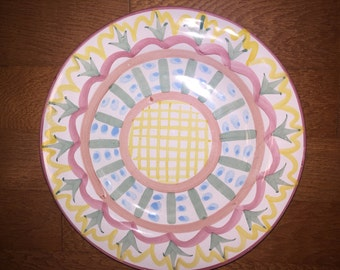 Mackenzie Childs retired ceramic plate from the 90's