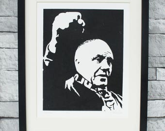 Soccer art print - Bill Shankly portrait - LFC print - Liverpool legend - Liverpool Football Club - Liverpool manager - LFC legend