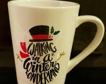 Winter Wonderland Snowman Mug