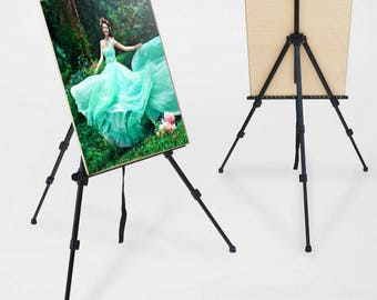 Aluminium Alloy Easel Adjustable Folding Artist Drawing Painting Easel Tripod includes Canvas Storage Bag     - US SELLER