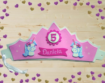 Crown personalized gift . Birthday . Crown birthday . Crown special occasion . Crown Foamy . Crown kids