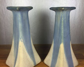 HOLD: Arts and Crafts Candlestick Holders 2pc