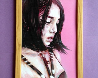 Hunny Portrait Limited Art Print Size A4 (210mm × 297mm)
