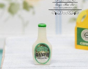 1:12 Dollhouse Miniature Ranch Salad Dressing AZ FA40204