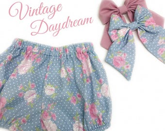 Vintage Daydream Shorts/Bloomers Set