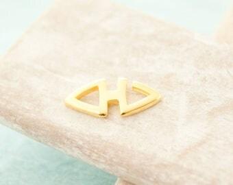 2x closure macrame band 18mm gold plated # 3939