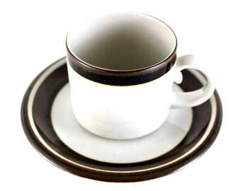 Arabia of Finland -  small Karelia cup with saucer